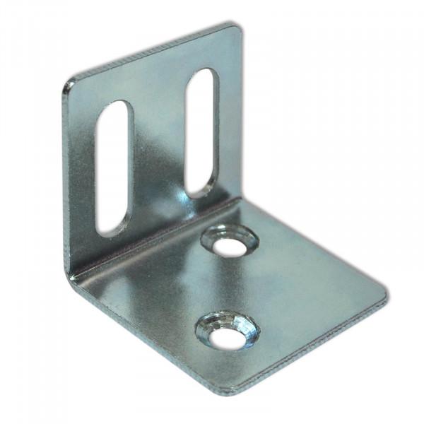 2 Lochplattenwinkel aus 1,8 mm Stahlblech
