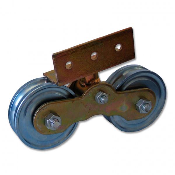 Tandem Rollenwagen mit 2 Torrollen Ø 10,2 cm