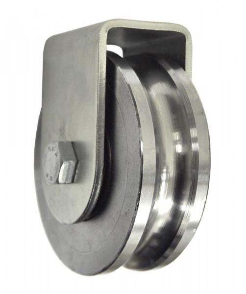 Stahl Torrolle Ø 102 mm mit Stützbock