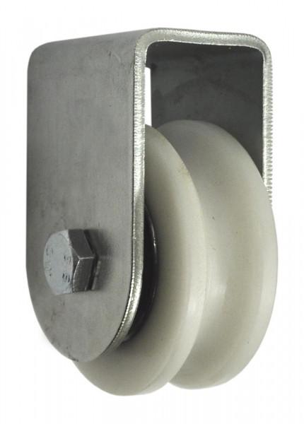 Nylon Torrolle Ø 75 mm mit Stützbock