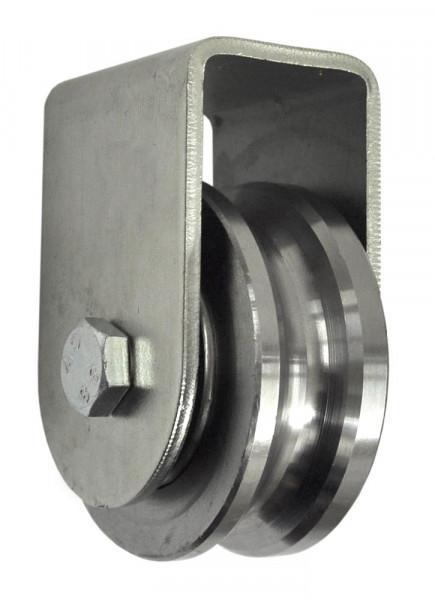 Stahl Torrolle Ø 76 mm mit Stützbock