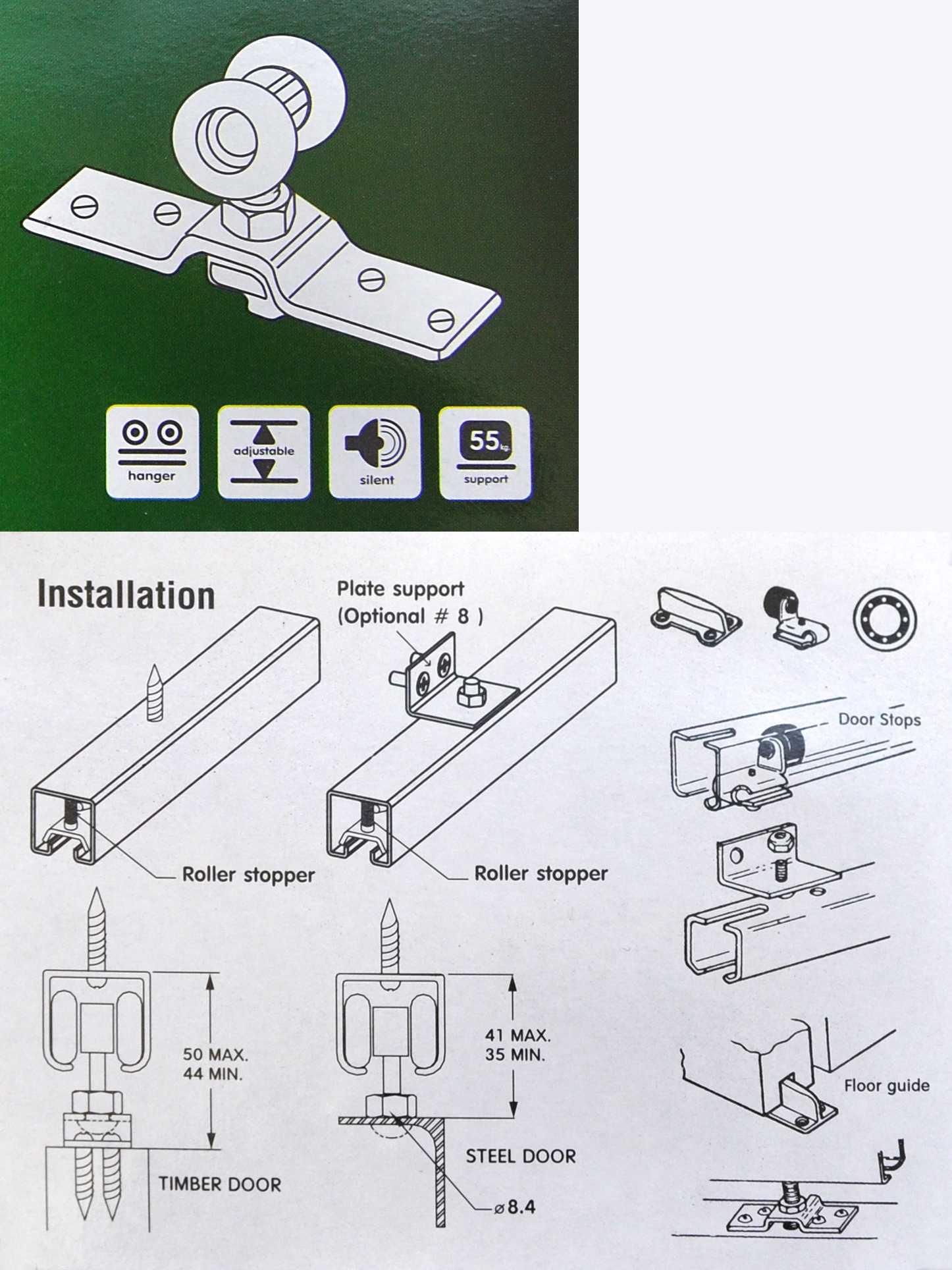 3m alu laufschiene t rbeschlag schiebet r beschlag rollen trenn 3x30080 3x30073 ebay. Black Bedroom Furniture Sets. Home Design Ideas